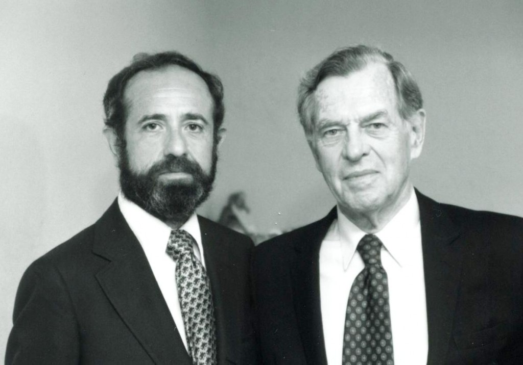 Dr. Joseph Campbell + Ron Rattner - 10/8/83 - Courtesy CIIS Archives