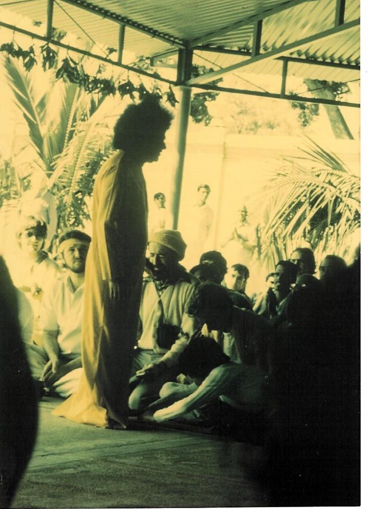 Sai Baba blessing Ron - Bangalore, 1982